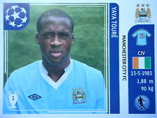 PANINI 46 Yaya Toure Manchester City UEFA CL 2011/12