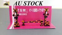 1 set TGW LA-8 Track Side Level Crossing Signal Post with gates, N Gauge