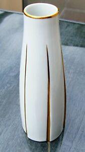 KPM Kister Slim Vase With Gold Staffage