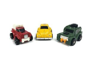 Vintage Transformers G1 Brawn Swerve Reissue Bumblebee Mini Vehicles Figure Lot
