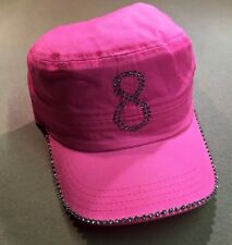 Pink 8 Ball and Rhinestone Hat / Cap Pool Billiards H20 w/ FREE Shipping