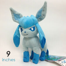 Pokemon XY Glaceon Plush Soft Toy Doll Teddy Stuffed Animal 9""