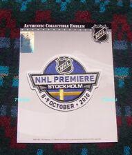 2010 NHL Premiere Patch Stockholm Sweden San Jose Sharks Columbus Blue Jackets