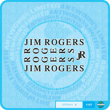 Jim Rogers - Bicycle Transfers - Stickers - Set 1