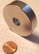 10 HUGE Neodymium ring magnet. Super strong N52 rare earth magnet.