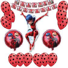 miraculous ladybug Balloons birthday Party Decorations set, Ladybug party set