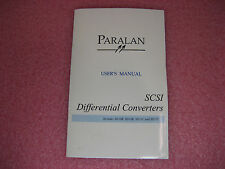 Paralan SCSI Differential Converters User's Manual for SD10B/SD16B/SD11C & SD17C