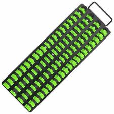 Socket Tray Rail Holder Bright Green Black Hi Vis Clipboard Hanging 440MM LONG