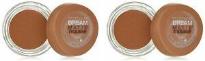 Maybelline Dream Matte Mousse Foundation, Caramel, Dark, 0.64 oz (Pack of 2)
