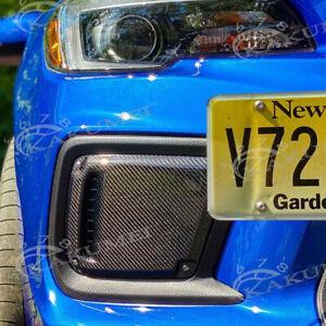 Kakumei Real Carbon Fog Cover Bezel Set FIT 2018 2019 2020 Subaru WRX STI