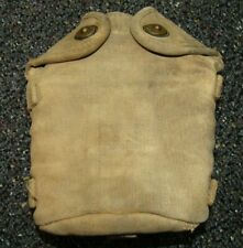 WWI US Army cavalry canteen cover US marked used