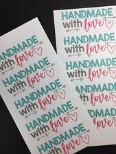 50 Handmade With Love Stickers