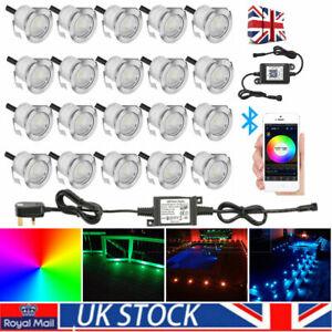 30mm RGB WIFI Bluetooth Round Garden Decking Deck Kitchen Lights Lighting Kits