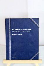 Canadian Quarter Collection 1953 Canada Coin Album Folder #3 No. 9069 - Whitman