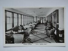 QUEEN MARY Cunard nave ship liner paquebot lloyd old postcard garden lounge