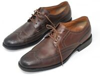 Clarks Mens Brown Leather Brogues Size UK 9G