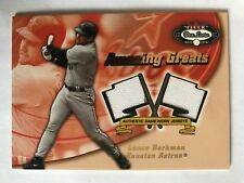 Lance Berkman 2002 Fleer Box Score Amazing Greats Dual Swatch Game Worn Jersey