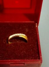 18ct gold and diamond ring fully hallmarked size O