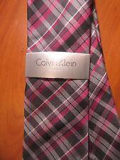 NEW Calvin Klein Steel Tie Purple Gray