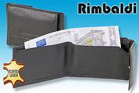 Rimbaldi® micro Geldbörse in Schwarz aus naturbelassenem Leder