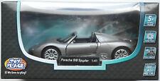 Toy Place - Porsche 918 Spyder graumet. 1:41 Neu/OVP Modellauto NICHT 1:43 !!!