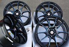 """17"""" Nero Blu attrito cerchi in lega Si Adatta BMW MINI r50 r52 r55 r56 r57 r58 r59"""