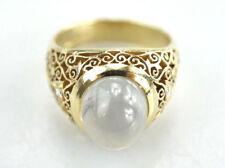 Schöner 585er Gold Ring Mondstein 14 Karat Brillant 13,68 Gramm - Gr. 60