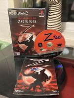 The Shadow Of Zorro Game Includes Manual PlayStation Two PS2 PAL UK