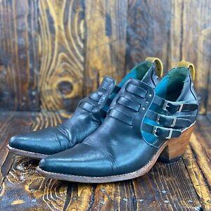 Pskaufman Women Boots no.1023 Sidewalk Side buckle Ankle Booties Size 8.5 B
