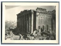 Liban, Baalbek, Temple de Bacchus Vintage silver print. Tirage argentique  6