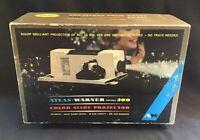 Vintage Atlas Warner Portable 300 Color Slide Projector In Box