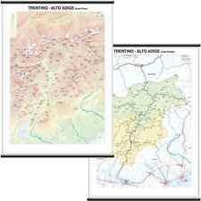 TRENTINO ALTO ADIGE CARTINA REGIONALE MURALE [BI-FACCIALE] 97X134 CM [MAPPA]