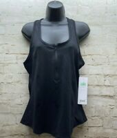 ALO Yoga Playa Tank Womens Size Large Black Zip So Soft