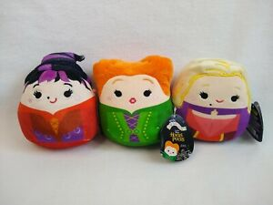 """NEW Squishmallow Lot of 3 5"""" Hocus Pocus Sanderson Sister: Sarah, Winifred, Mary"""