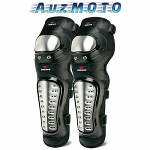Motorcycle Protective Shin Guard Knee Pads Stainless Steel 4 Bike Riding Sports