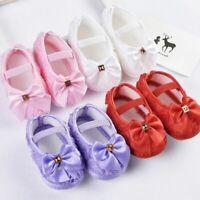 Toddler Baby Girl Bowknot Crib Shoes Newborn Soft Sole Anti-slip Prewalker USA