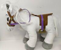 """Build Bear Horses & Hearts White Pony Saddle Plush 18"""" Stuffed Toy Bridle"""