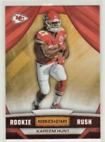 2017 Panini Rookies & Stars Rookie Rush #6 Kareem Hunt Kansas City Chiefs