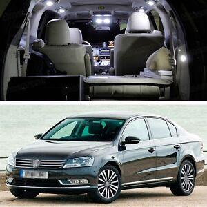 9Pcs SMD LED White Lights Interior Package Deal for VW Passat 2011-2014 12 13 B7