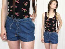 Vintage 70s 80s Jeanetics Denim Jeans Short Shorts Festival  Hippie Boho XS S