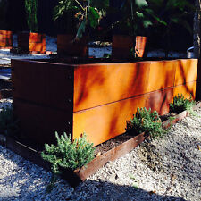 1200x400mm by 400mm high steel raised garden bed planter box