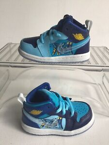 Nike Air Jordan 1 Mid (TD) 'Fly' Blue Void/Royal Toddler Sz.5c (BV8175-400)