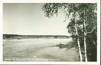 MT McKINLEY ALASKA FROM ALASKA RAILROAD NEAR TALKEETNA REAL PHOTO POSTCARD 1940s