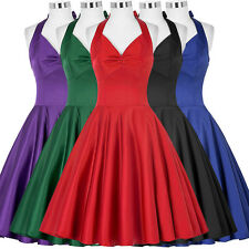 Housewife Vintage 40s 50s Swing Pinup Rock N Roll Prom Party Evening BALL Dress