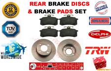 FOR AUDI 90 2.0 2.2 E 20V BERLINA 1984-1991 REAR BRAKE DISCS + BRAKE PADS SET
