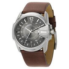 Diesel Men's DZ1206 Analog Grey Dial Brown Leather Watch