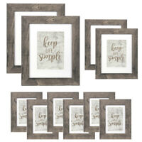10Pack Wood Picture Frames & Poster Frames Set Wall Tabletop Mounted Home Decor