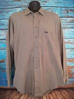 Faconnable Men's Dress Casual Shirt Gray Size Large Made in USA