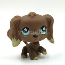 Littlest Pet Shop dog Cocker Spaniel #960 Chocolate Brown puppy LPS toy Star Eye