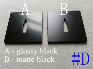 1 Custom Made Black Powder Coated Square Iron Tsuba #D for Japanese Ninjato